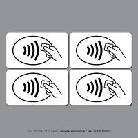 4 x Contactless Card Payments Sticker Credit Card Shop VISA Mastercard SKU2536
