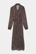 ZARA WOMAN NWT SALE! LEOPARD ANIMAL PRINT DRESS REF: 8633/118/042
