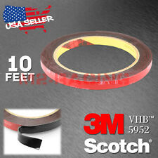 Genuine 3M VHB #5952 Double-Sided Mounting Foam Tape Automotive Car 8mmx10FT
