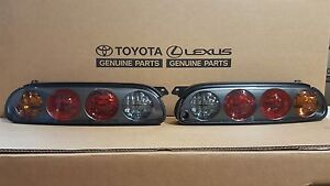 Toyota Supra 97-98 style MKIV TailLights Black Housings w/Harness and Bulbs