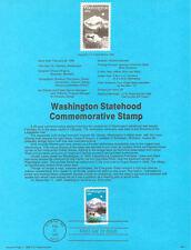 #8905 25c Washington Statehood Stamp #2404 USPS Souvenir Page