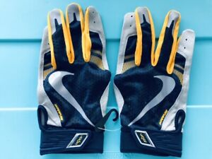 Nike Vapor Elite Hyperfuse Baseball Batting Gloves XL Matt Kemp SF Giants Blue