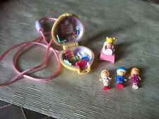 Vintage Polly Pocket Polly In Her Bedroom Locket with Four Figures and Table