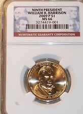 2009-P Ninth President William M Harrison NGC MS66