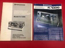 Original Kenwood R-1000 Receiver Instruction Manual & Glossy Sell Sheet