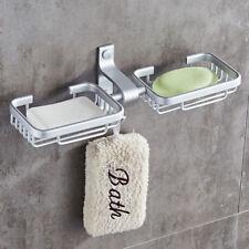 Bathroom Double Basket Bath Shower Soap Dish Holder Aluminum Wall Mounted Hanger
