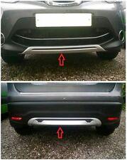 Front + Rear Bumper Protector Skid Plate 2pcs for Nissan Qashqai 2014 2015 2016