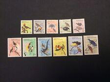 1964 Papua New Guinea set of 11 Birds Stamps