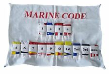 U.S. Navy Signal Code FLAG Set  - Set of Total 14 flag with CASE COVER - COTTON