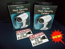 LOT FAKE HOME SECURITY DUMMY CAM SPY VIDEO CCTV CAMERAS+LED MOTION LAMP LIGHT