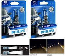 Philips VIsion 30% H1 55W Two Bulbs Fog Light Replacement Plug Play Upgrade Lamp