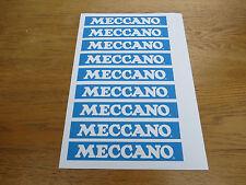 """Meccano 6 étiquettes 1/2 """"x 1"""" Bleu X 9. reproductions"""