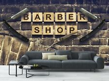 Barber Shop-Old Wall   Photo Wallpaper Wall Mural DECOR Paper Poster Free Paste