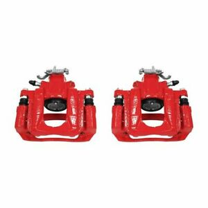 PowerStop for 08-16 Chrysler Town & Country Rear Red Calipers w/Brackets - Pair