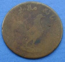Nederlands Indie - 1 Keping Haantjesduit 1804 Truman  Year 1250 Rooster. KM# Tn4