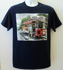 Star Wars Mens M Shirt Stormtroopers & Darth Vader On San Francisco CA Cable Car