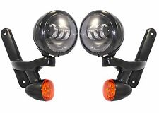"""LED 4"""" DRIVING LIGHTS & TURN SIGNALS (MOUNTS INCLUDED) - FITS FLH MODELS"""
