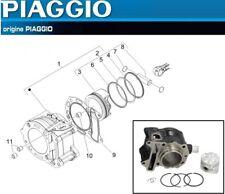 Pack Cylindre Piston Segments D'origine Aprilia Atlantic Scarabeo Sport City 125