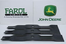 More details for genuine john deere mulch blade set m127673 lx289 48c deck ride-on mower set of 3
