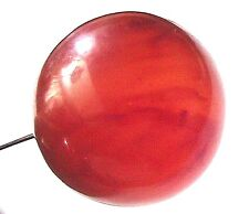French Victorian 1800s Long Hat Pin~ Amber Colour Bakelite ~Made In France~ New