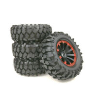 1:10 4Pcs For TRAXXAS D90 SCX10 RC Car Short Course Truck Rubber Tires&wheels