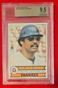 Reggie Jackson 1979 O-PEE-CHEE BGS 9.5 GEM Yankees! HOF POP 4!