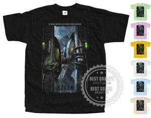 ALIEN V8 horror T SHIRT Poster Nostromo colors Black All Sizes S to 5XL