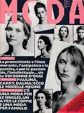 MODA N. 34 OTTOBRE 1986 Kim Basinger Jessica Lange Huppert Isabelle  L5844
