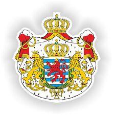 Luxemburgo escudo de armas de la etiqueta engomada 1981 Motocicleta pegatinas Casco parachoques # 02