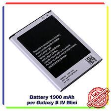BATTERIA SAMSUNG EB-B500BE i9190 GALAXY S4 Mini 1900mAh ORIGINALE RICAMBIO