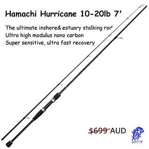 Hamachi Hurricane JDM 10 - 20 lb 7'0 Japanese nano spin fishing rod pole cane