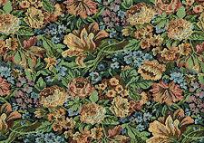 11.75 Yards Avon Silk Fabrics Black Gold Green Blue Burgundy Drapery Upholstery