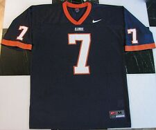 NEW NIKE TEAM U ILLINOIS ILLINI MENS NAVY BLUE/ORANGE #7 FOOTBALL JERSEY SHIRT M