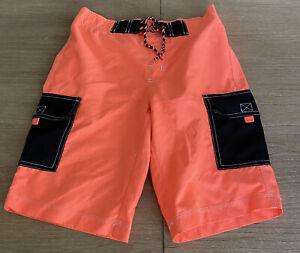 Gymboree Retail Boy L 10-12 Swim Trunks Mesh Lining Cargo Pockets Drawstring EUC