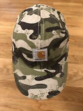 Carhartt Logo Patch Boy Green Brown Camouflage Camo Cap Hat Child OSFM