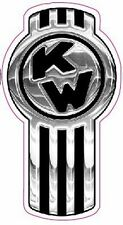 """Kenworth Badge Version 2 Large Chrome Decal 10"""" x 4"""" in size."""
