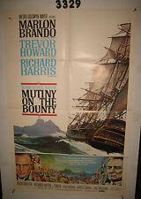 Mutiny On the Bounty Original 1sh Movie Poster '62 Marlon Brando