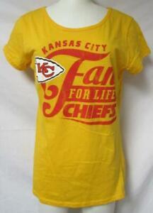 "Kansas City Chiefs Women's Size Large ""Fan For Life"" T-Shirt A1 3465"