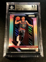 TRAE YOUNG 2018 PANINI PRIZM #78 SILVER CHROME REFRACTOR ROOKIE RC BGS 9.5 HAWKS