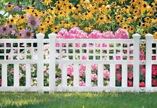 Suncast  24 in. L x 20.5 in. H Resin  White  Garden Fence