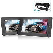 """2 x10.1"""" auto 2 monitores portátiles DVD Player reposacabezas televisor 5 horas de batería"""