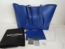 YSL Saint Laurent Shopping Tote Bag Blue Excellent Condition