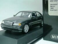 WOW EXTREMELY RARE Mercedes W202 C220 1993 Blue Black 1:43 Minichamps-300,560,SE