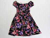 NWT Justice Kids Girls Size 7 or 10 Pink & Purple Flower Smocked Dress