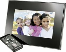 "Insignia 7"" Widescreen LCD Digital Photo Frame NS-DPF0712G - Black/Silver"