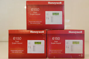 3 Honeywell Ademco 6150 Fixed English Keypad with Programmable Function Keys