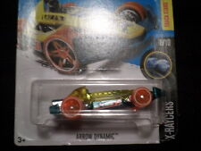 HOT WHEELS 2017 TH T-HUNT HW X-RAYCERS #8/10 ARROW DYNAMIC GRN/YW  HOTWHEELS