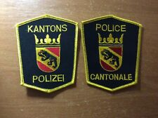 2 SWISS SWITZERLAND PATCH POLICE POLIZEI CANTON BERN - ORIGINAL!