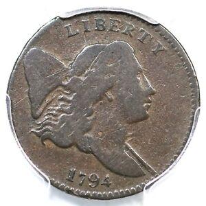 1794 C-2b R-5+ PCGS F 12 Liberty Cap Half Cent Coin 1/2c