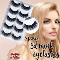5 Pairs 3D False Eyelashes Thick Wispy Cross Long Mink Soft Fake Eye Lashes